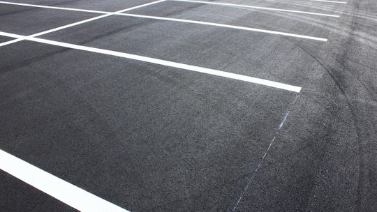 A tarmac parking area completed by our team